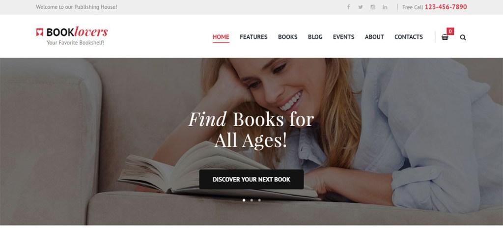 Buchliebhaber - WordPres-Thema