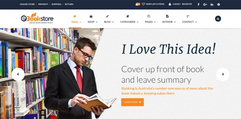 Bibliothek - WordPres-Thema