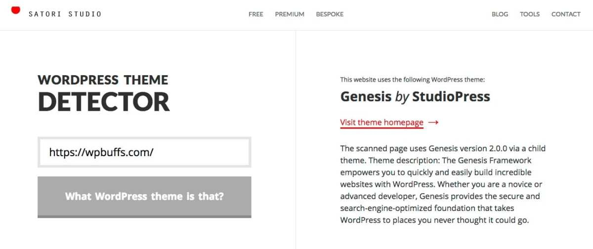 WordPress-Themendetektor
