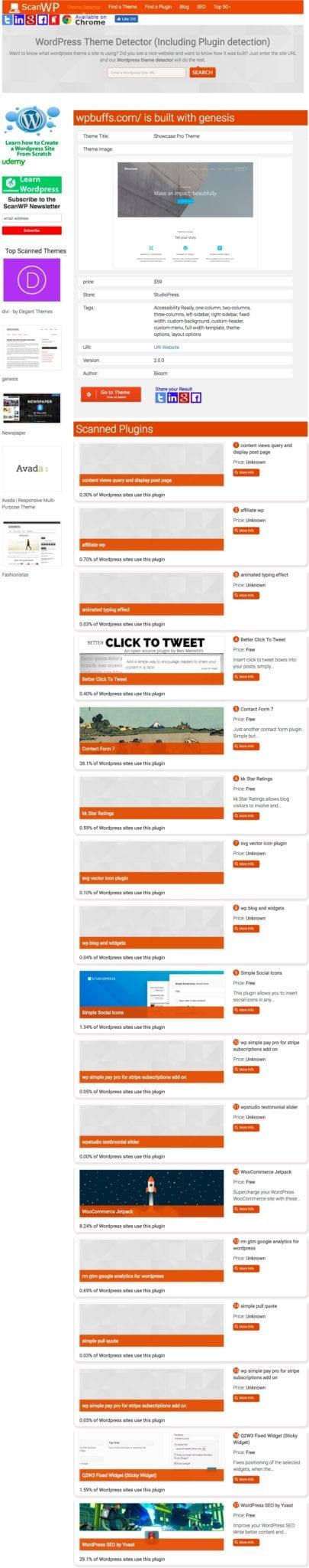 Screenshot von ScanWPNet