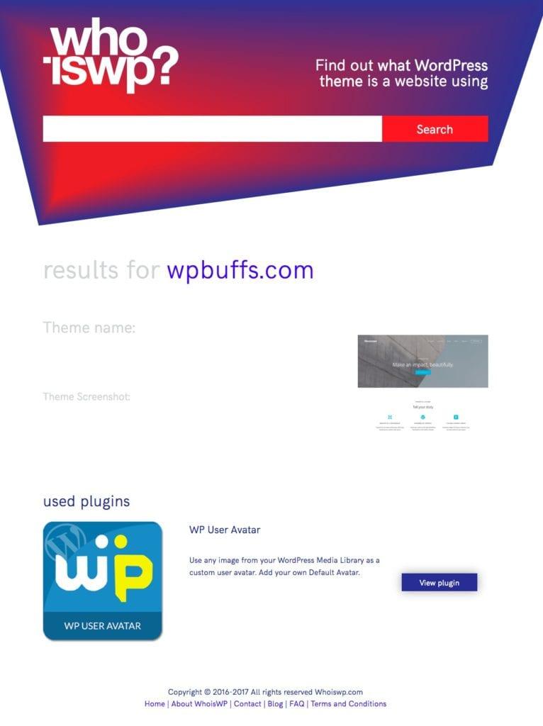 WhoIsWP Screenshot