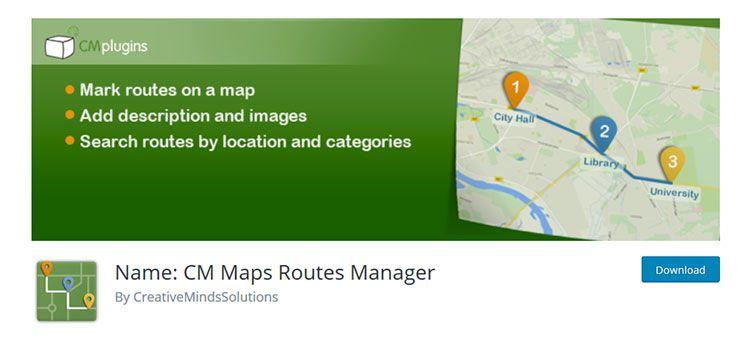 Nombre: CM Maps Routes Manager
