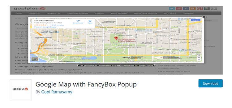 Google Map mit FancyBox Popup