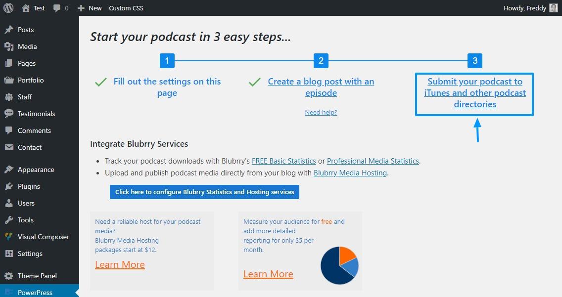 Senden Sie Podcasts mithilfe des Powerpress-Plugins an Podcast-Verzeichnisse