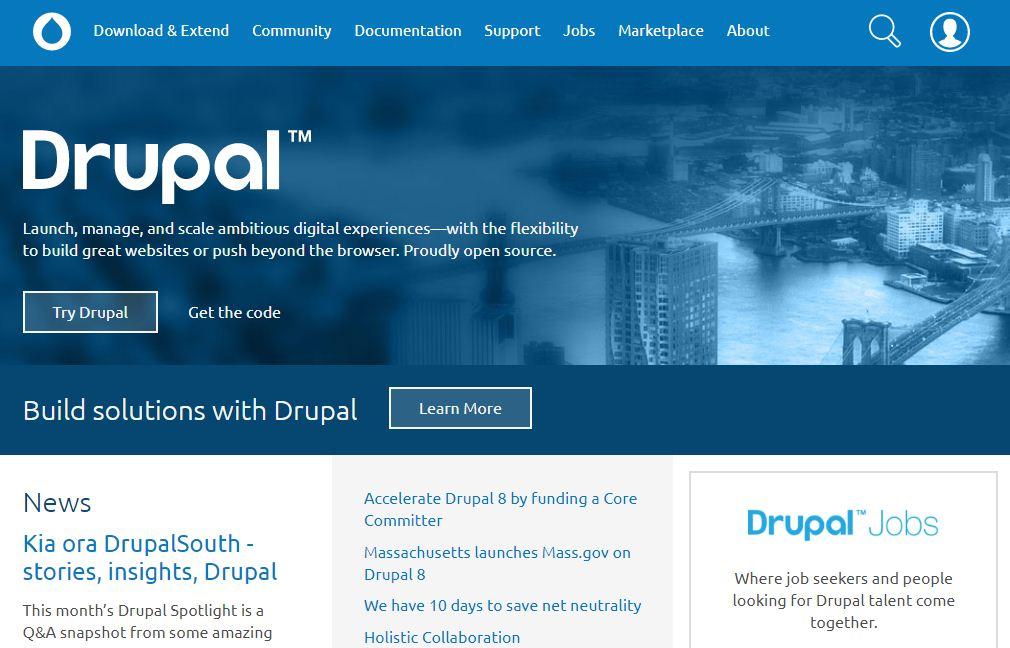 drupal blog builder site