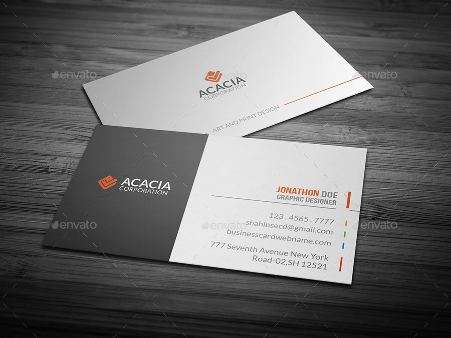 31+ Professional & Simple Business Cards Templates For 2018