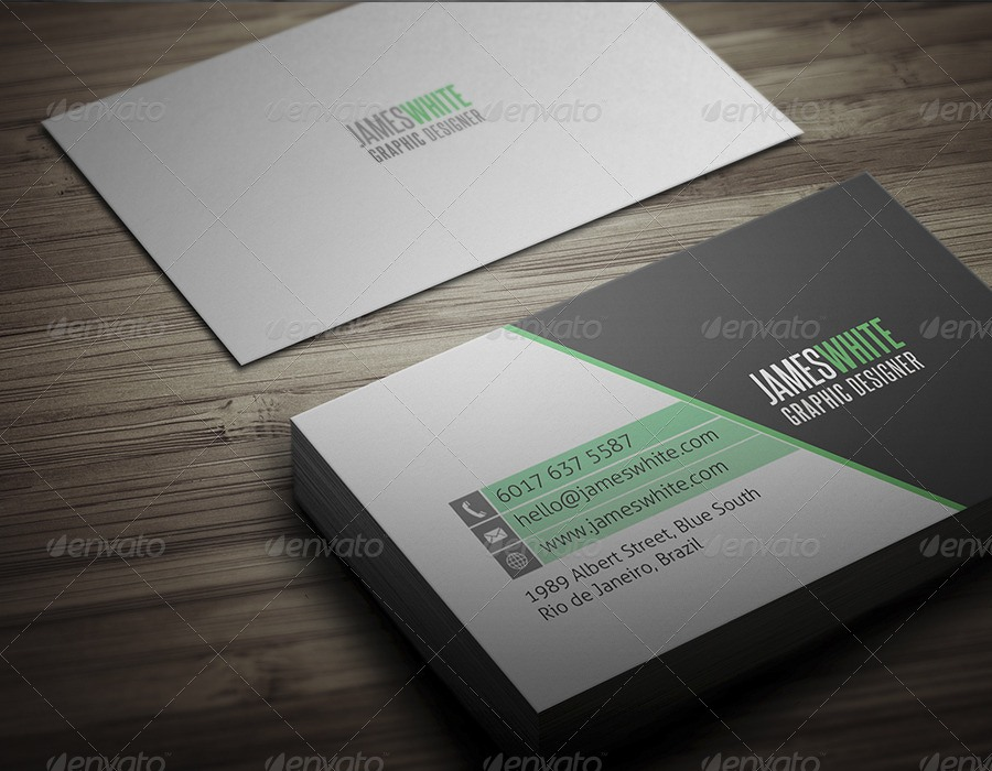 31 professional simple business cards templates for 2018 simple business cards flashek Images