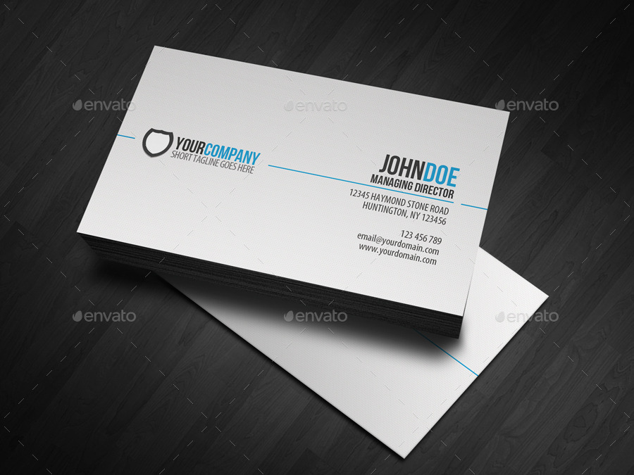 31 professional simple business cards templates for 2018