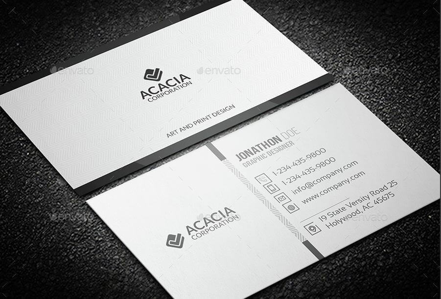 31 professional simple business cards templates for 2018 simple corporate business card cheaphphosting Gallery