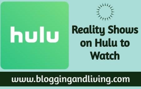 reality shows on Hulu
