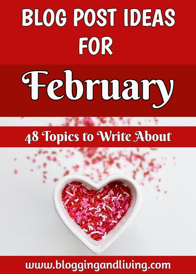 February blog post ideas