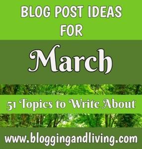 march blog post ideas