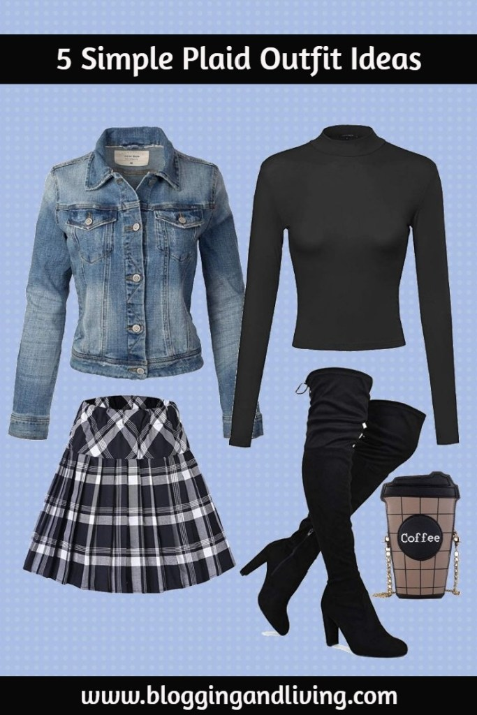plaid skirt outfits