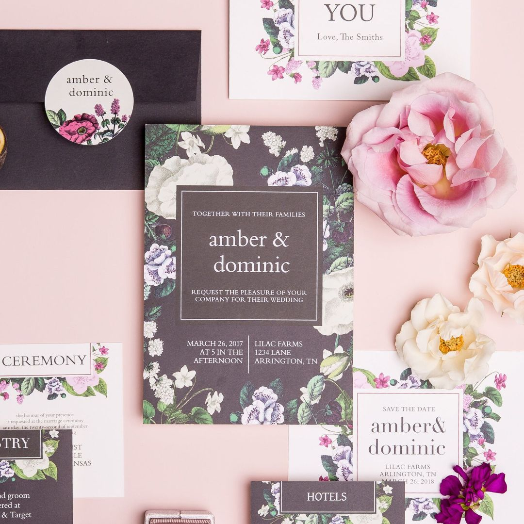 garden bridal shower invitations