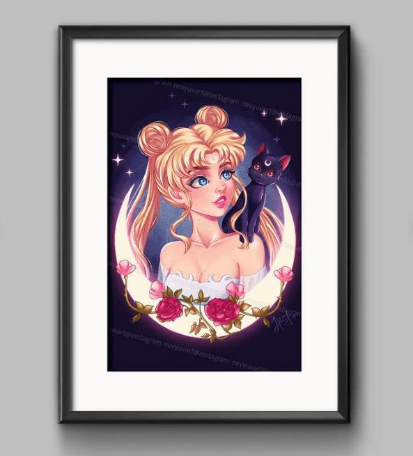 sailor moon fan art