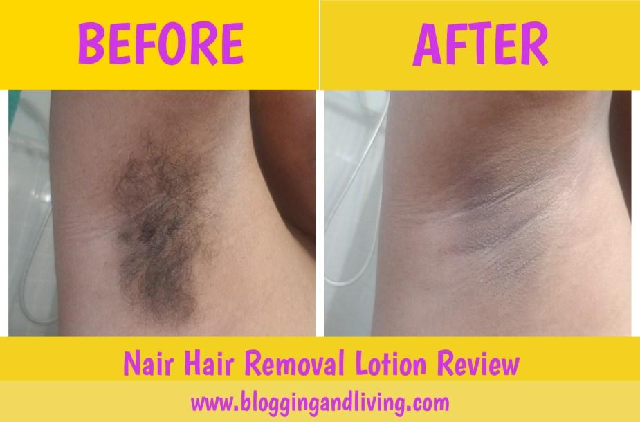 nair hair removal lotion review