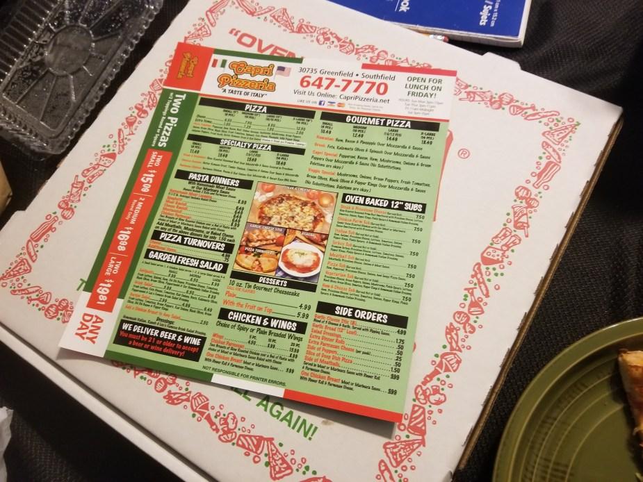 pizza in southfield