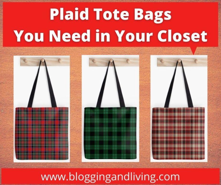 Plaid Tote Bags