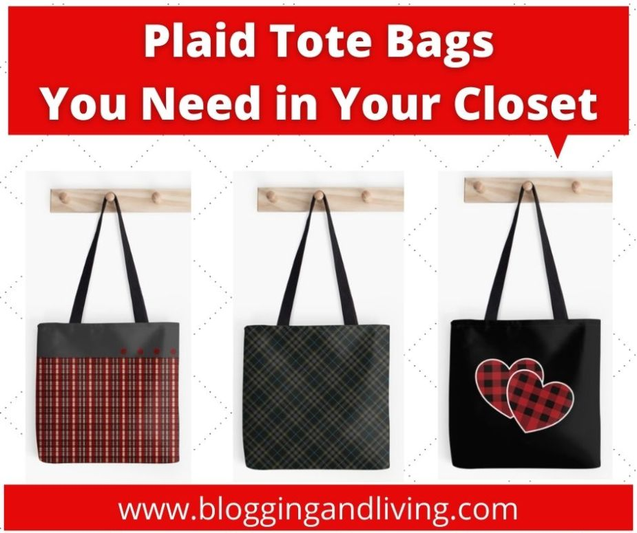 red and black tote bags
