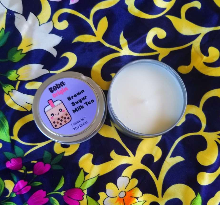 boba tea candle