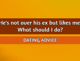 Hes not over his ex but likes me