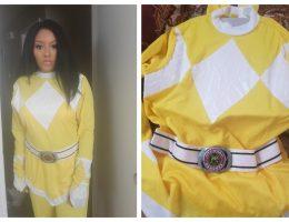yellow power ranger costume