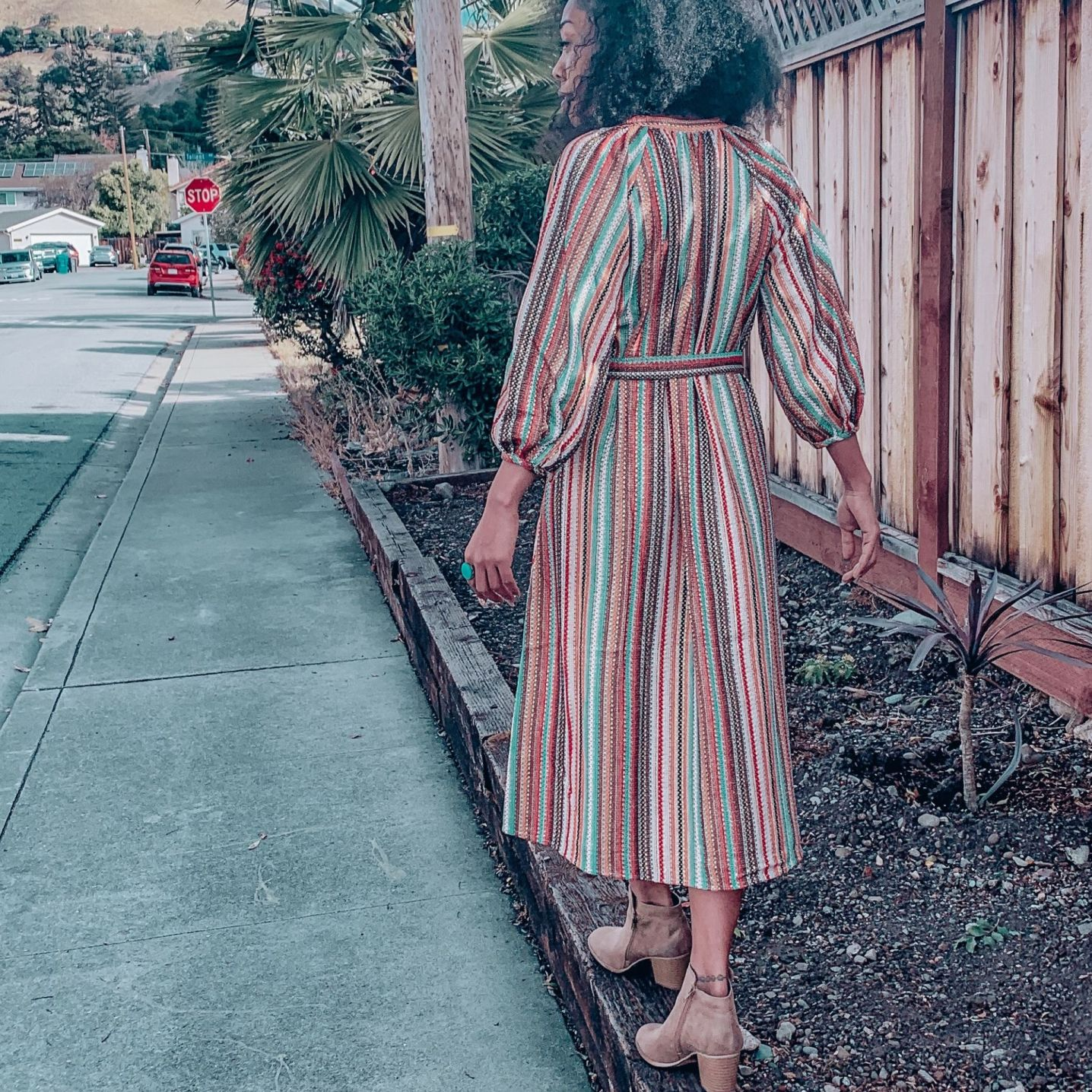 Multi-Color ModCloth Midi Dress
