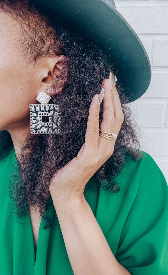 Francesca's - Alani Beaded Statement Earrings