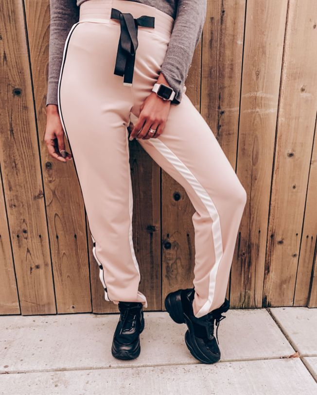 High Waisted Pink Joggers