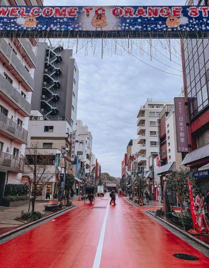 Asakusa Sensoji Temple Tokyo Japan Orange Street