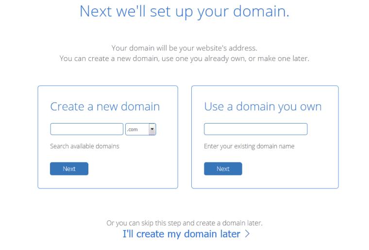 Bluehost domain checkout