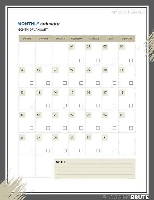 Blogging Calendars