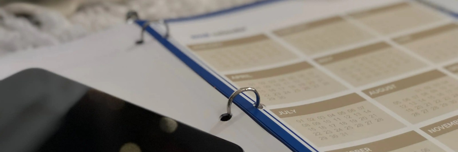 Using a blogging planner to calendar out your blog posts.
