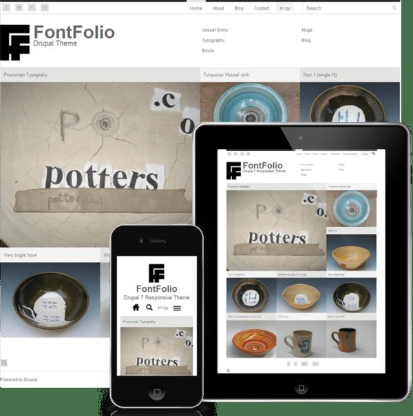 Responsive-FontFolio4-Drupa