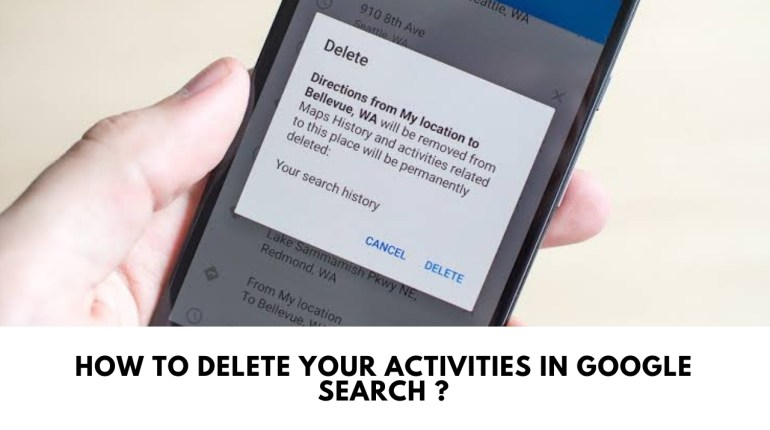 delete your activities in Google search