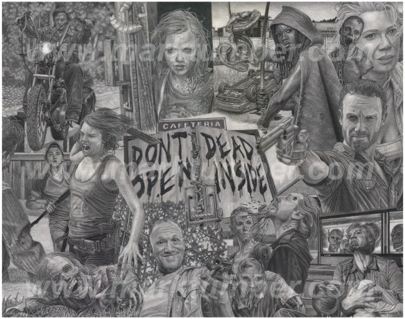 The Walking Dead print by Mark Tumber
