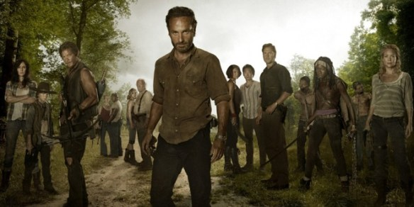 Season 3 photo of the cast of The Walking Dead
