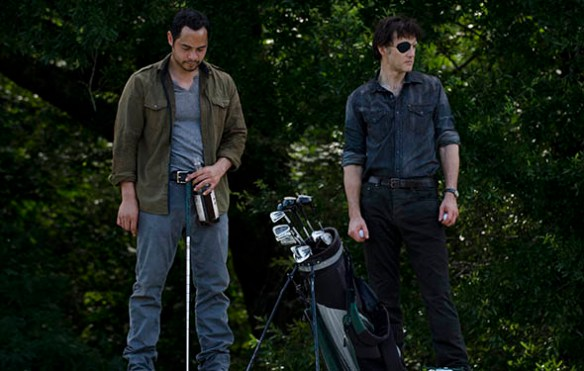 Jose Pablo Cantillo and David Morrissey in The Walking Dead Season 4 Episode 7