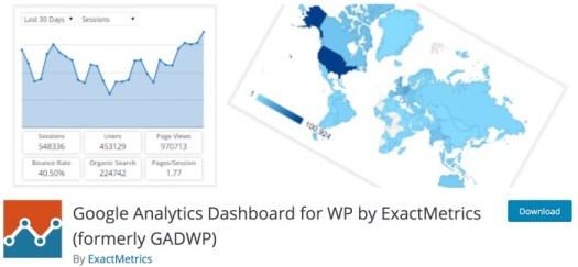 Best free WordPress plugins for blogs - Google Analytics Dashboard for WP