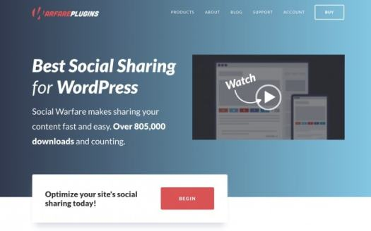 Social Warfare - The best social sharing plugin for WordPress - The best blogging tools and resources to start a WordPress blog to make money online