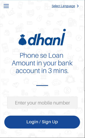 sign up login dhani app