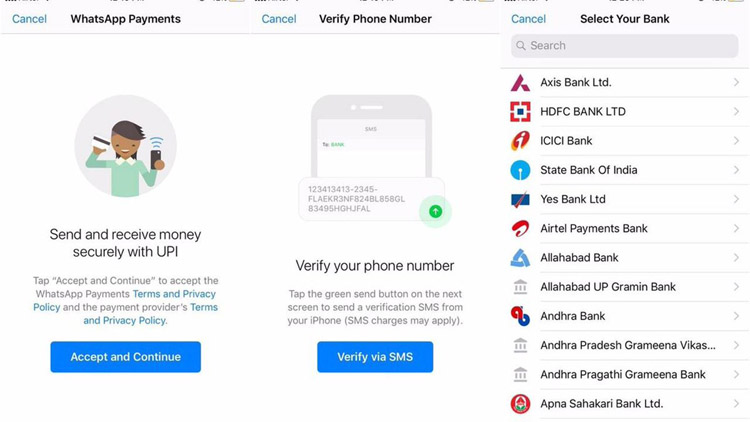 whatsapp payment setup process