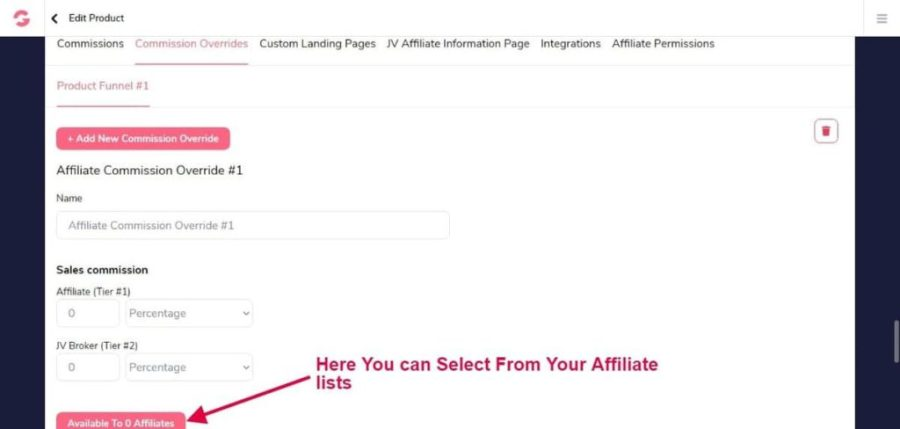 GROOVEFUNNELS REVIEW: SELECT AFFILIATE LIST IN GROOVEAFFILIATE