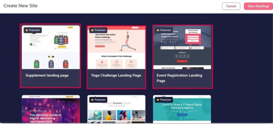 GROOVEFUNNELS REVIEW: START WITH PRECUSTOMIZED TEMPLATES