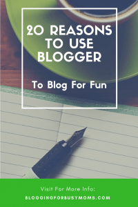 20 Reasons Blogger