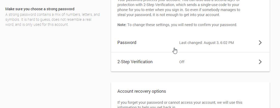 2 Step verification par click kare