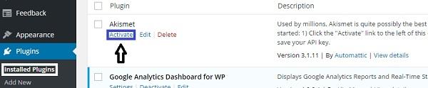 akismet-wordpress-plugin-activation