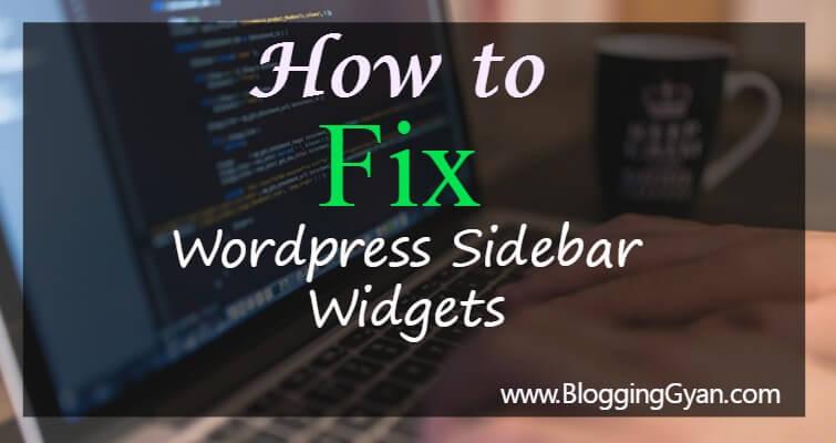 Wordpress Sidebar Widgets Ko Sticky Fixed Kaise Kare