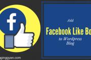 Facebook Like Box Wordpress Blog me Kaise lagaye