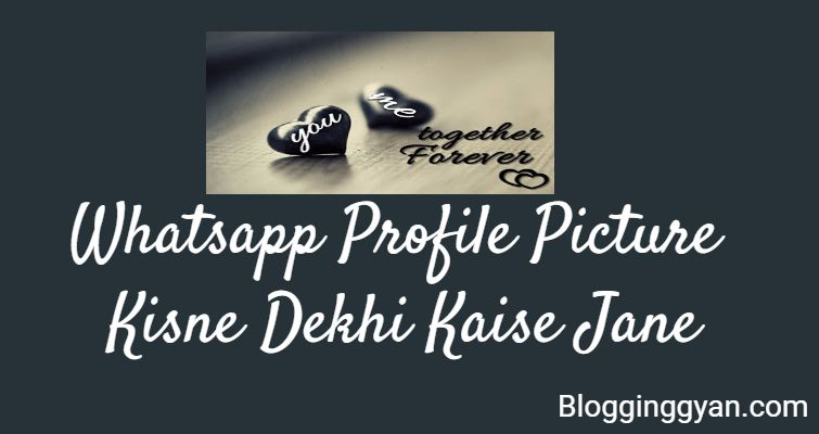Hamari Whatsapp Profile Kisne Dekhi Kaise Jane Latest 2017 Trick